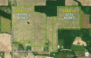146+/- Acres Offered in 2 Tracts, Bippley Rd, Sunfield