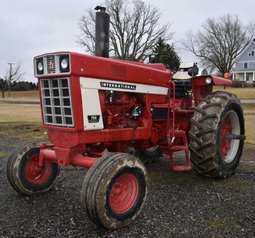 International 766 Diesel Tractor- 8902 Hours, Open Station