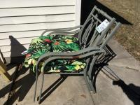 Patio Set with Round Table, Umbrella, 4 Chairs