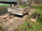 Single Axle Utility Trailer (needs tires) - Long Utility Cart
