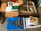 Pallet of Decorative Christmas Items and Picture Frames/Window
