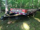 1984 Dakota Tandem Axle Flatbed Trailer with Ditch Witch Toolbox