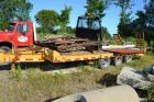 1997 Eager Beaver Heavy duty tri-axle dually tag trailer with air brakes and fold down ramps