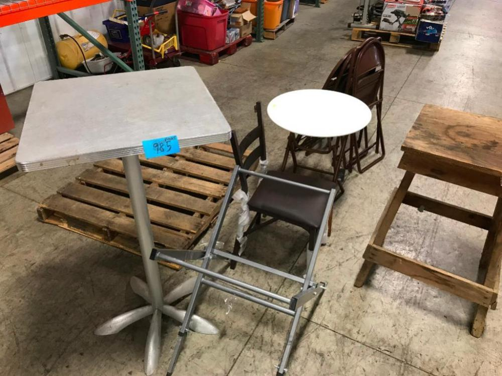 High Top Table Chairs Folding Table Work Bench