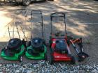(3) Push Mowers, Worx Electric Trimmer and Blower