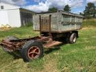 Truck Frame with dump bed, no engine, transmission or cab