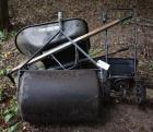 Wheel Barrow, Lawn Roller, Broadcaster