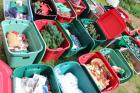 Large lot of Christmas decorations in totes LARGE LOT