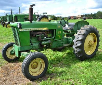 1965 John Deere 1010 Tractor- Runs, Wide Front, Tires are Loaded, S/N 1010RD56445