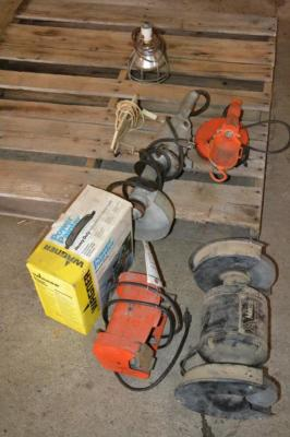 Electric Bench Grinders, Power Painter, Lights