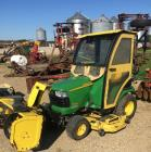 John Deere X485 Lawn Mower with Snow Blower with Heat Housing