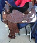 "Silver Royal Western Show Saddle with Saddle Carrier- 16.5"" Seat, 28"" Length, 13.5"" Depth"