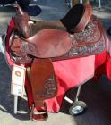 "Circle Y Western Show Saddle with Saddle Carrier- 17"" Seat, 25"" Length, 13"" Depth"