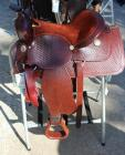 "Western Show Saddle- 15.5"" Seat, 25.5"" Length, 12.5"" Depth"