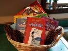 Book and Game Basket: Includes Uno Spin, Seven books - Diary of a Wimpy Kid. ($80 value)