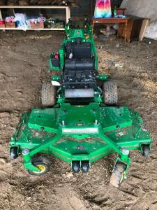 John Deere W61R Walk Behind Mower with Dolly Ride Along