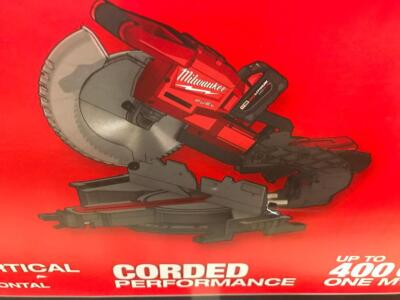 "Milwaukee 10"" Dual Bevel Compound Sliding Miter Saw"