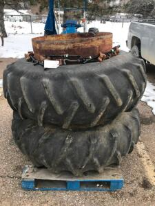 Pair of 18.4-34 T-Rail Duals with Hardware
