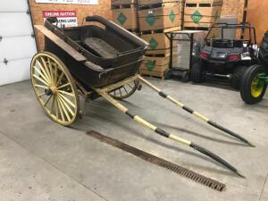 1800's Tub Cart Original Condition with Lamp Brackets