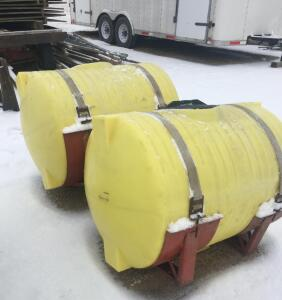 Set of 110 gal. Poly Tanks with Saddles
