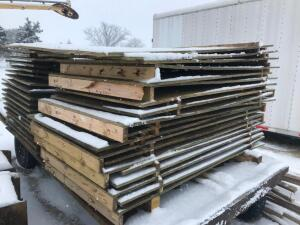 "(10) Sheets of 3/4"" Treated Plywood Side Sheeting"