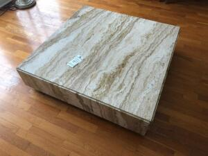 Low Marble Coffee Table, about 4' x 4'