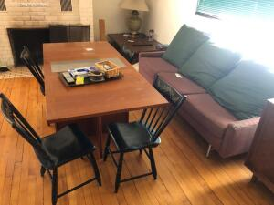 Couch and Skovby Table with 4 chairs