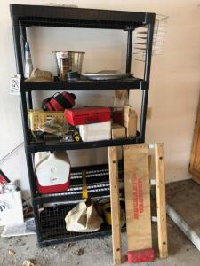 Storage Shelves and Contents in Garage