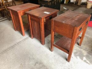 (3) Side Tables, 1 is Stickley, 1 is Bentwood