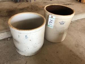 (2) 5 gallon crocks
