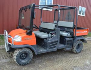 2015 Kubota RTV 1140 CPX Diesel Utility Vehicle- 4x4, 468.8 hrs, S/N 25049, Hydraulic Dump, No Title