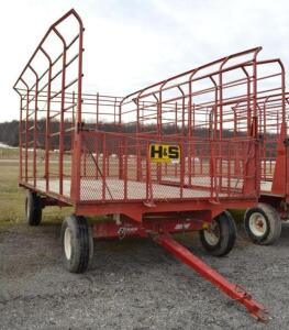 H&S Bale Thrower Wagon on a EZ Trail 8 Ton Running Gear- S/N 890WE060615Z6610
