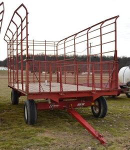H&S Bale Thrower Wagon on a EZ Trail 8 Ton Running Gear- S/N 890WE060615Z6609