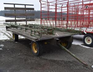 16' Flat Bed Hay Wagon with Back Rack