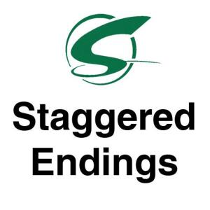 Staggered endings- 1 lot per minute