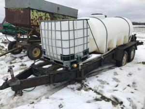 1000 gal. Nurse Tank Trailer with Poly Transfer Tank