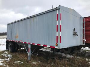 1984 Tri State Single Bottom Hopper Trailer