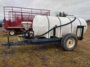 1000 Gallon Nurse Trailer with Pump and Inductor Tank