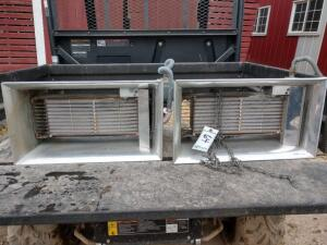 (2) Re-Verber-Ray Radiant Natural Gas Heaters