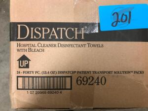 Box of Hospital Cleaner Disinfectant Towels with Bleach