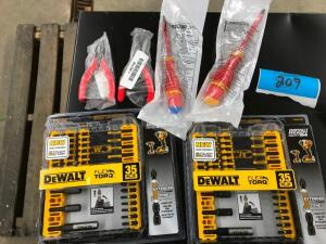 (2) DeWalt Flex Torq Bits, Screwdrivers, Pliers