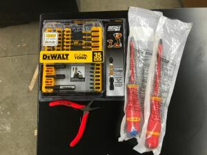 DeWalt Flex Torq Bits, Screwdrivers, Pliers