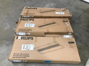(3) Philips ideal LED Retrofit Kits