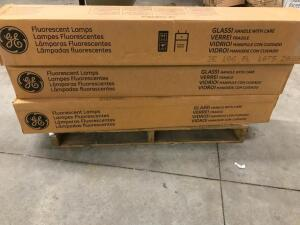 (3) Boxes of Fluorescent Lamps T8