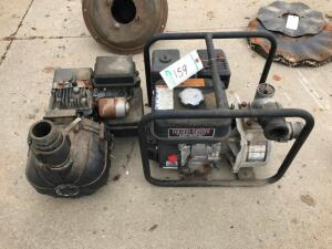 Red Lion 5.5HP Trash Pump Works, 3.5HP Trash Pump for parts