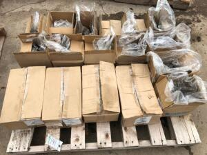 Pallet of threaded rod and various bolts and fasteners