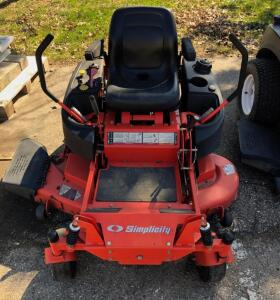 "Simplicity 50"" Zero Turn Mower"