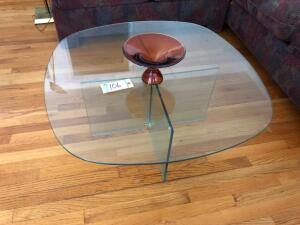 Glass Coffee Table & Candy Dish
