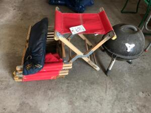 Camping Stools, Grill and Eddie Bower Tent