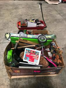 Pallet of Kids Toys, Estate Items, Wagon, Sports Equipment